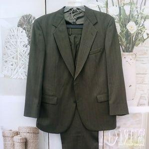 Wool Suit by Stafford Sz. 44L Pants 38/40x 32